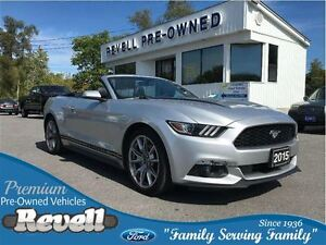 2015 Ford Mustang EcoBoost Premium...Htd/cooled leather, Nav, 19