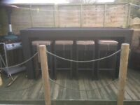 Garden table and stools for sale