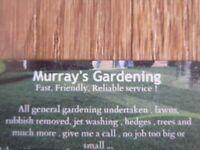 experienced gardener looking for work