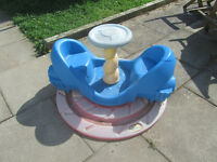 rare little tikes whirly rocket roundabout