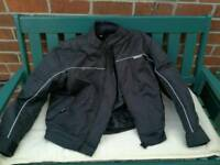 Black motor bike jacket size medium