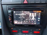 Pioneer Double-Din SIRI, Google Now, DAB, USB, CD, DIVX, Rear Camera Touchscreen Head Unit