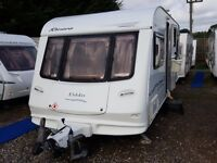 Elddis Riviera (Odyssey) 534 4 Berth Fixed Bed Lightweight Caravan with MOTOR MOVER and Full Awning