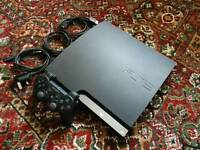 PS3 SLIMLINE 120GB WITH CONTROLER AND CABLES