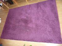 Ikea rug - purple (Adum range) 135cm x 197 cm