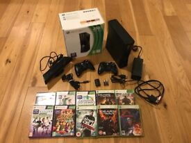 Xbox 360 S & Kinect w/games