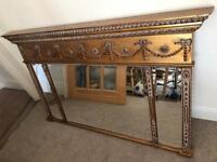 Extra large ornate mirror