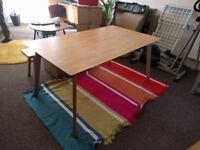 Dining table / solid wood oak veneer / 6 seater