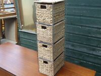 Small Wicker Basket tower For Bathroom Delivery available