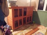 Hutch- pets at home bluebell hideaway rabbit/guinea pig 4 door hutch
