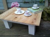 RECLAIMED PALLET COFFEE TABLE INDUSTRIAL SHABBY CHIC RUSTIC RECLAIM