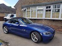 BMW Z4 2.0L I SPORT LOW MILEAGE GREAT COLOUR BLUE BLACK & CREAM 2 TONE LEATHER