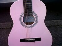 Guitar (Chantry) - BABY PINK needs re-stringing.