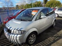 AUDI A2 1390cc 5 DOOR HATCH 2001-51, FINISHED IN A BRIGHT METALIC SILVER,