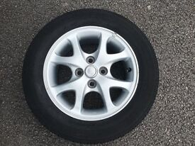 1X YARIS ALLOY WHEELS WITH TYRE GOOD CONDTION