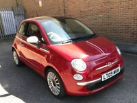 2009 FIAT 500 1.4 LOUNGE AUTOMATIC PETROL 3 DOOR HATCHBACK RED TOP RANGE CHEAP INSURANCE N KA CORSA