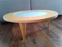 Heal's Round Coffee Table with Glass Center