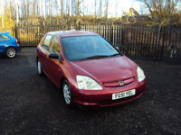 HONDA CIVIC 1.4i S 5DR HATCHBACK LONG MOT LOW MILEAGE CD RADIO AIR CON SERVICE HISTORY ECONOMICAL
