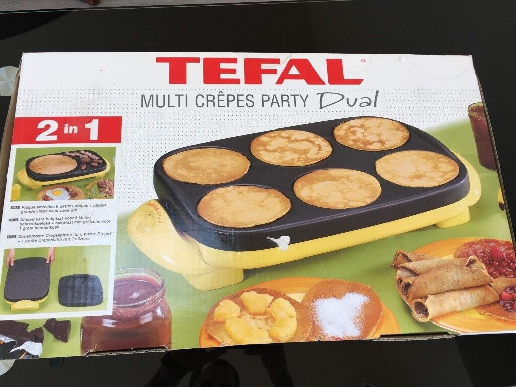 tefal multi crepes party dual in crawley west sussex gumtree. Black Bedroom Furniture Sets. Home Design Ideas