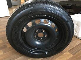 "VW Passat 16"" Steel Wheel + 2x Tyres + Lift Jack + warning triangle"