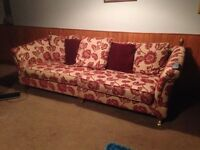 Large 4 Seater sofa and a matching cuddle chair