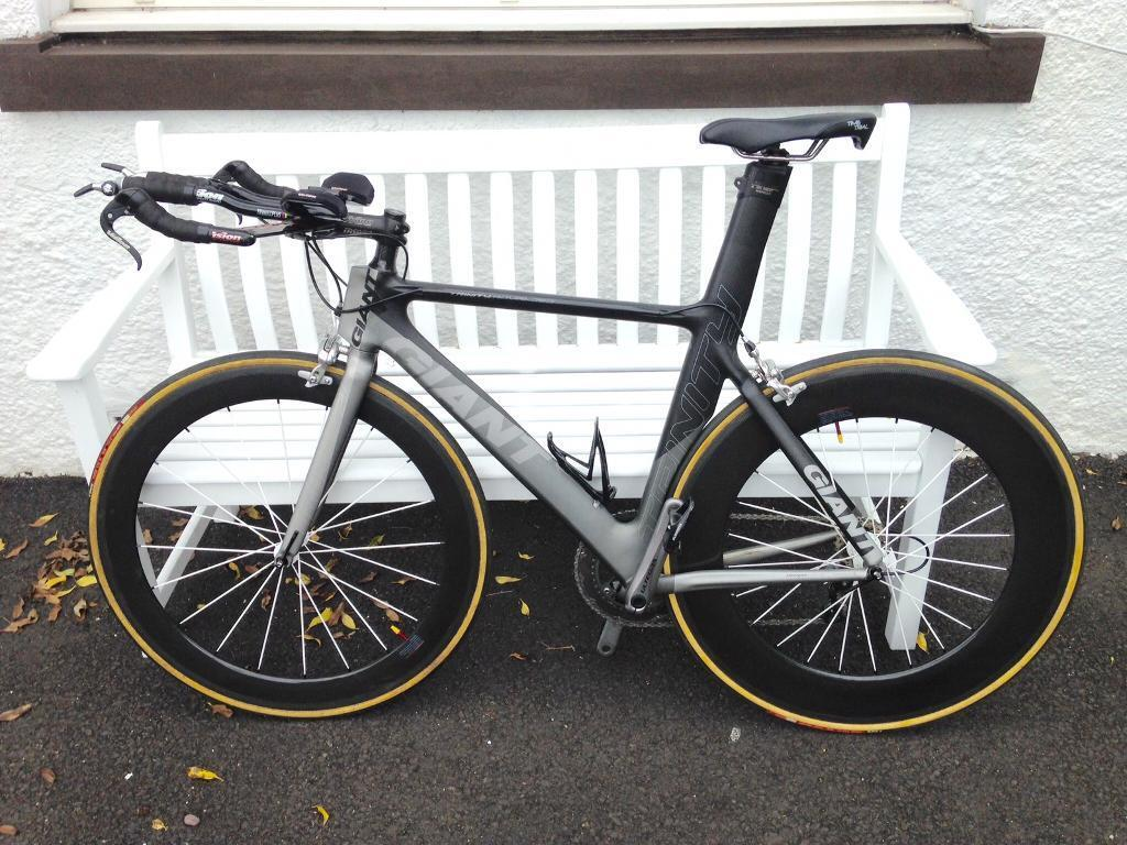 Giant Trinity Full Carbon Tt Bike With Carbon Tub Wheels In