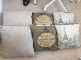 6 Next cushions