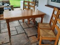 Marks & Spencer Pine dining table & 4 chairs