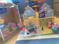 Peppa pig playhouse and playmat