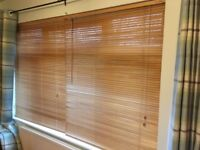 IKEA Natural Wooden Venetian Window/Door Blinds – 120cm Wide x 155cm Long