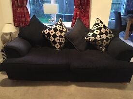 Beautiful black sofa