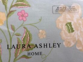 "NEW Laura Ashley Ready Made Pencil Pleat Curtains - Summer Palace Duck Egg. (W)88"" x (L)90"""