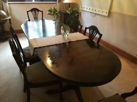 6 foot extendible dining table and chairs