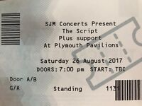 2 x Script Tickets Plymouth - Saturday 26th August