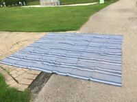 Breathable ground sheet for awnings