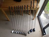 Full set of golf clubs. Perfect for a beginner to learn the game with.