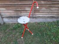 Folding walking stool