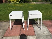 2x Ikea Selje Bedside Tables