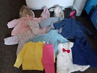 Bundle of girls jackets/cardigans/gilets Age 6-12mnths