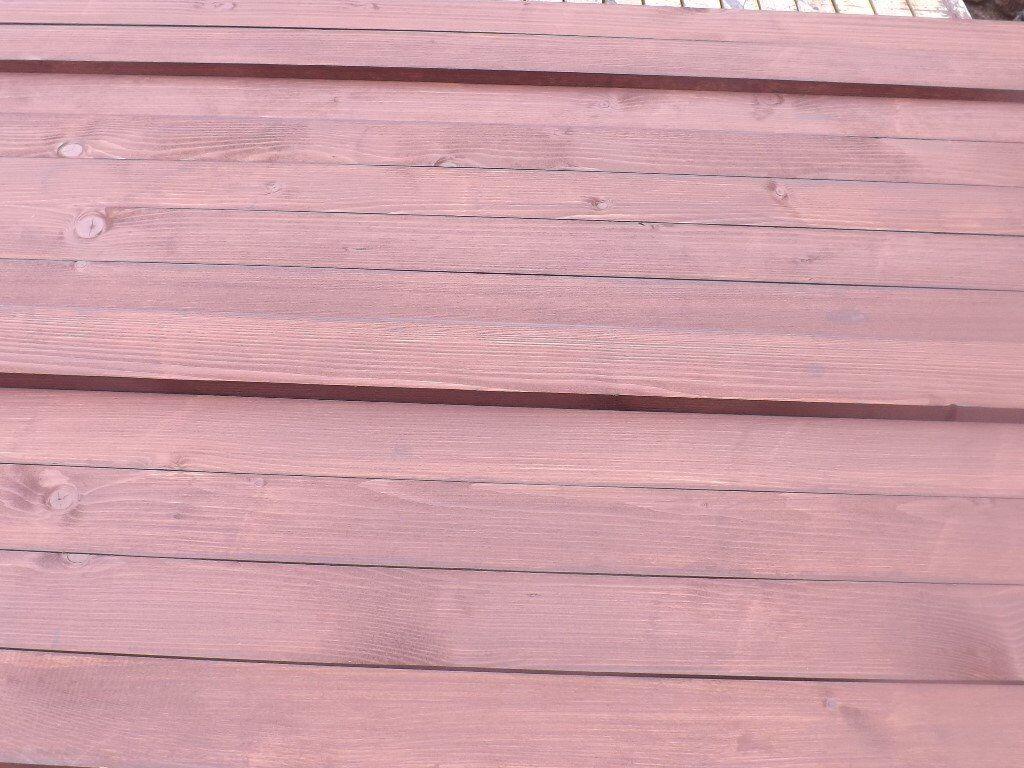 12 X Wooden Replacement Slats For Garden Bench Dark Oak