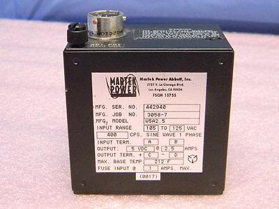 Martek Power W5a2.5 Dc Power Supply 5vdc 2.5a 5w 400-hz