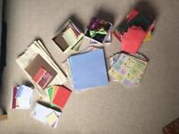 Huge supply card making/scrap booking stock