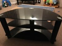 """Black tv stand ideal for 32"""" but can hold upto40"""""""