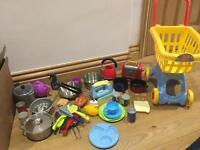 Kids kitchen toys and shopping toys £15