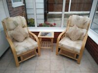 Nearly new conservatory furniture