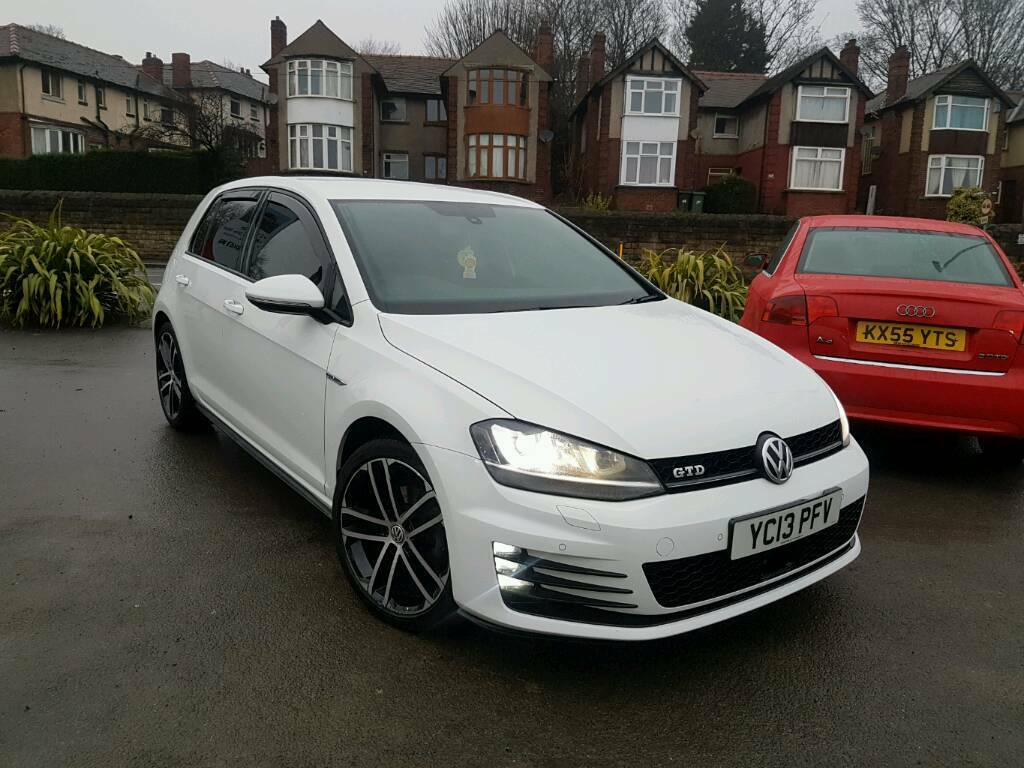 2013 vw golf mk7 1 6 tdi 5 door white full gtd conversion. Black Bedroom Furniture Sets. Home Design Ideas