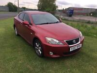 2007 LEXUS IS220D TD 6 SPEED MANUAL-FULL LEATHER-MARCH 2018 MOT TEST- SOME DAMAGE TO PASSANGER SIDE