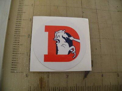 Vintage NFL Broncos football logo sticker decal