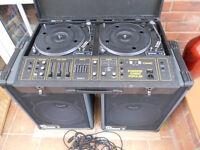 Citronic Stereo Popular, Quasar Speakers & speaker leads.