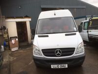 mercedes sprinter 313 fridge van.mwb.one owner.newly serviced.ready for work